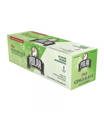 Polar Diet Ginger Ale 12-Pack (12 x 12fl.oz (355ml)) Soda and Drinks Polar