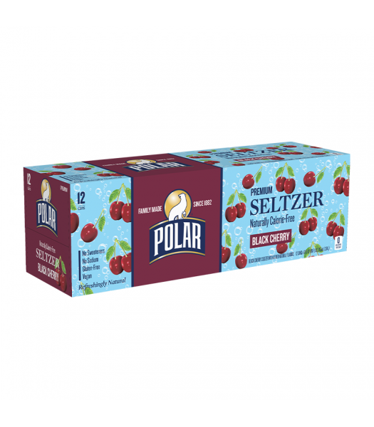 Polar Seltzer Black Cherry 12-Pack (12 x 12fl.oz (355ml)) Soda and Drinks Polar