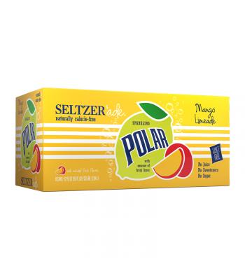 Polar Seltzer'Ade Mango Limeade 8-Pack (8 x 12fl.oz (355ml)) Soda and Drinks Polar
