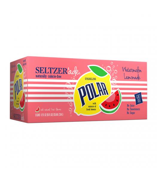 Polar Seltzer'Ade Watermelon Lemonade 8-Pack (8 x 12fl.oz (355ml)) Soda and Drinks Polar