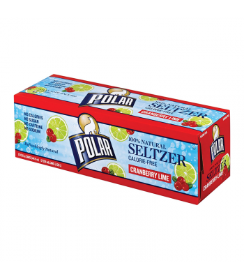 Polar Seltzer Cranberry Lime 12-Pack (12 x 12fl.oz (355ml)) Soda and Drinks