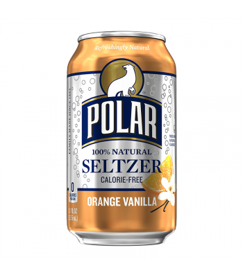 Polar Seltzer Orange Vanilla - 12fl.oz (355ml) Soda and Drinks