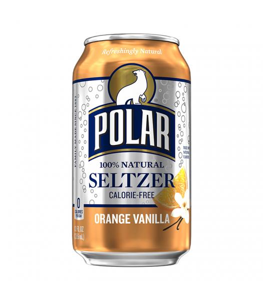 Polar Seltzer Orange Vanilla - 12fl.oz (355ml) Soda and Drinks