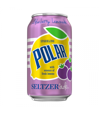 Polar Seltzer'Ade Blueberry Lemonade - 12fl.oz (355ml) Soda and Drinks Polar