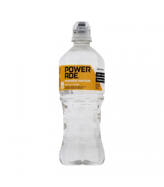 Powerade (U.S) Power Water Tropical Mango - 20oz (591ml) Soda and Drinks