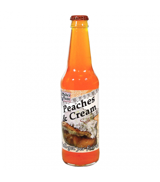 Rocket Fizz - Melba's Fixins Peaches & Cream Soda - 12fl.oz (355ml) Soda and Drinks Rocket Fizz