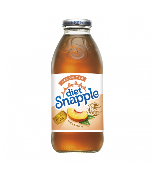 Snapple Diet Peach Tea 16oz (473ml) Iced Tea Snapple