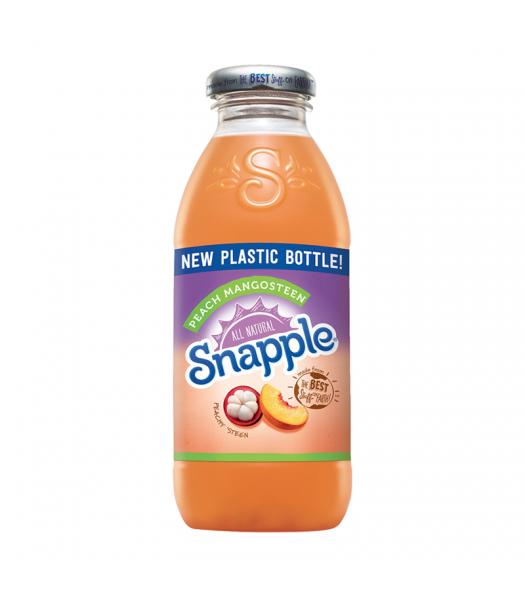 Snapple Peach Mangosteen - 16fl.oz (473ml) Soda and Drinks Snapple