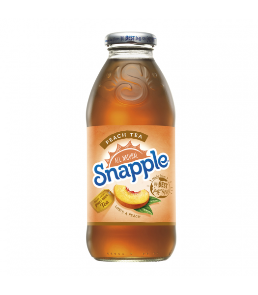 Snapple Peach Tea 16oz (473ml) Iced Tea Snapple
