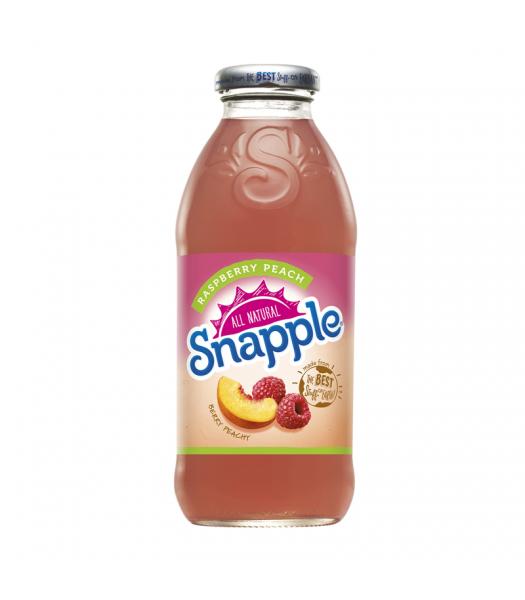 Snapple Raspberry Peach 16oz (473ml) Iced Tea Snapple