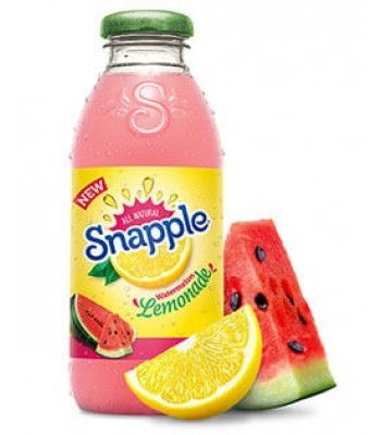 Snapple Watermelon Lemonade 16oz (473ml) Soda and Drinks Snapple