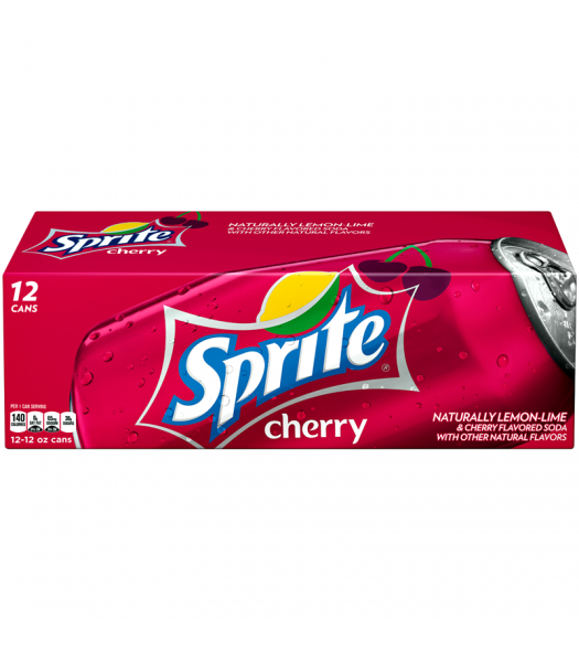 Sprite Cherry Flavour - Limited Edition - 12fl.oz (355ml) Cans - 12-Pack Regular Soda