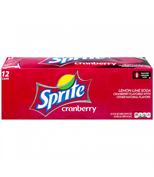 Sprite Cranberry Flavour - Limited Edition - 12fl.oz (355ml) Cans - 12-Pack Soda and Drinks