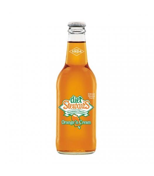 Stewart's Diet Orange 'n Cream Soda - 12fl.oz (355ml) Soda and Drinks