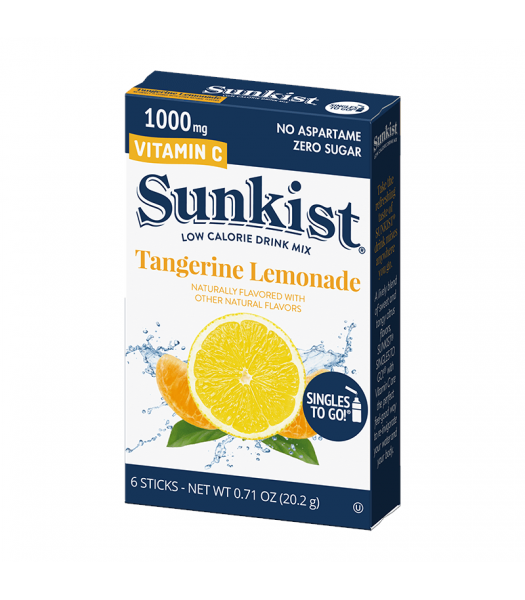 Sunkist Zero Sugar Singles To Go Tangerine Lemonade - 0.71oz (20.2g) Soda and Drinks