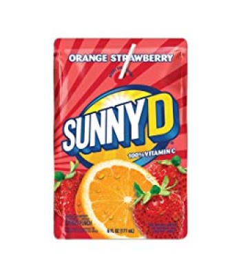Sunny D Orange Strawberry Pouch - 6fl.oz (177ml)  Soda and Drinks Sunny D