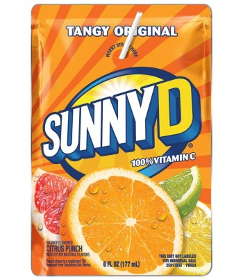Sunny D Tangy Original Orange Pouch - 6fl.oz (177ml)  Soda and Drinks