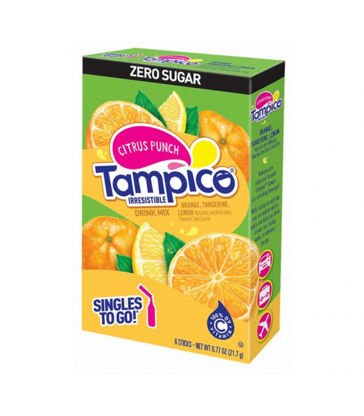 Tampico Singles To Go Citrus Punch 6-Pack - 0.72oz (21.7g) Soda and Drinks