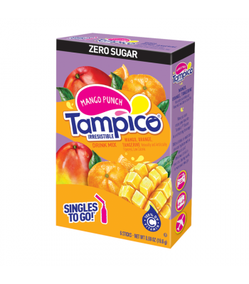Tampico Singles To Go Mango Punch 6-Pack - 0.69oz (19.6g) Soda and Drinks