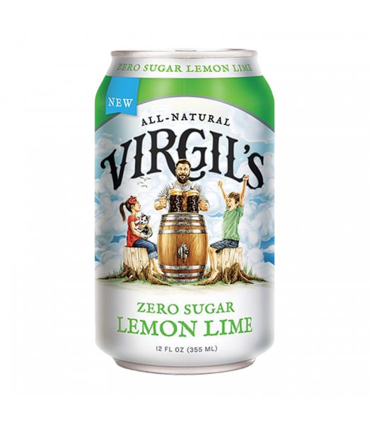 Virgil's Zero Sugar Lemon Lime Soda Can - 12fl.oz (355ml) Soda and Drinks Virgil's