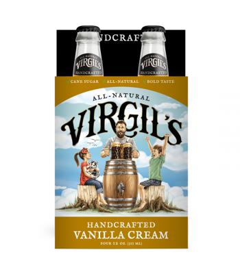 Virgil's All-Natural Vanilla Cream Soda 12fl.oz (355ml) - 4-PACK Soda and Drinks Virgil's