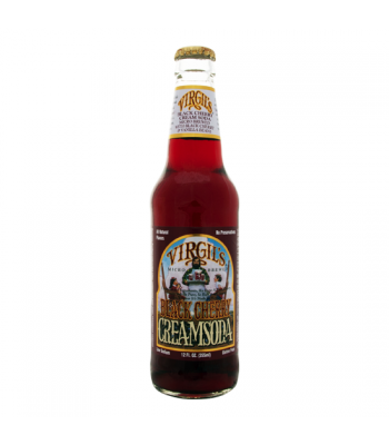 Virgils Black Cherry Cream Soda 12oz (355ml) Regular Soda Virgil's
