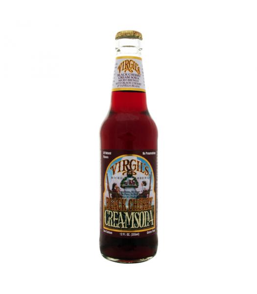 Virgils Black Cherry Cream Soda 12oz (355ml) Regular Soda Virgil's