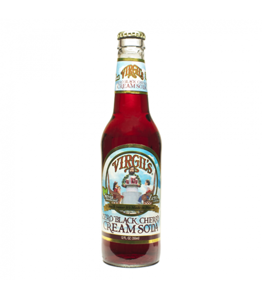 Virgils ZERO Black Cherry Cream Soda 12oz (355ml) Diet Soda Virgil's