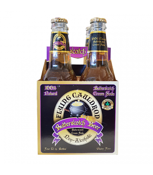 Flying Cauldron Butterscotch Beer Soda 12fl.oz (355ml) - 4 Pack Soda and Drinks Harry Potter