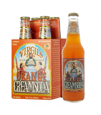 Virgils Orange Cream Soda 12fl.oz (355ml) 4 PACK Regular Soda Virgil's