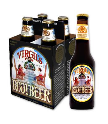 Virgils Root Beer 12oz (355ml) 4 PACK Regular Soda Virgil's