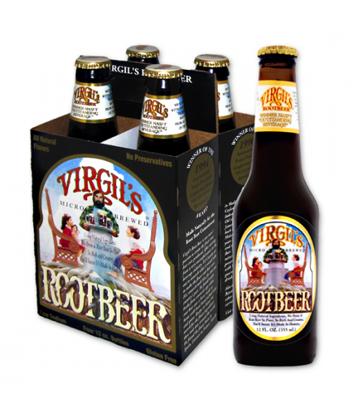 Virgil's Root Beer 12fl.oz (355ml) - 4 PACK  Soda and Drinks Virgil's