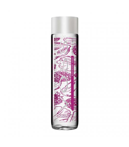 Voss Raspberry Rose Sparkling Water Bottle 330ml Soda and Drinks