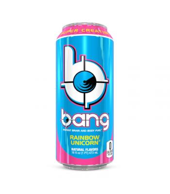 Bang Energy Drink Rainbow Unicorn - 16oz (473ml) Soda and Drinks