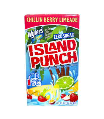 Wyler's Light Singles To Go Island Punch Chillin Berry Limeade 10-Pack - 0.87oz (24.6g) Soda and Drinks