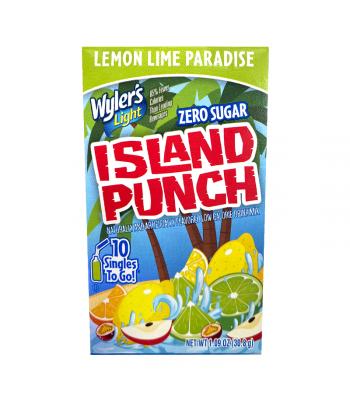 Wyler's Light Singles To Go Island Punch Lemon Lime Paradise 10-Pack - 1.09oz (30.8g) Soda and Drinks