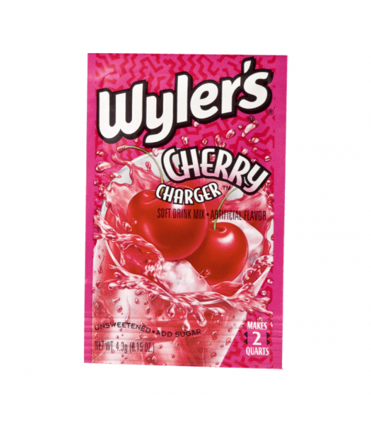 Wyler's 2QT Cherry Charger Unsweetened Soft Drink Mix Sachet - 0.15oz (4.3g)