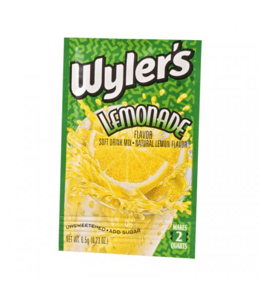 Wyler's 2QT Lemonade Unsweetened Soft Drink Mix Sachet - 0.23oz (6.5g)