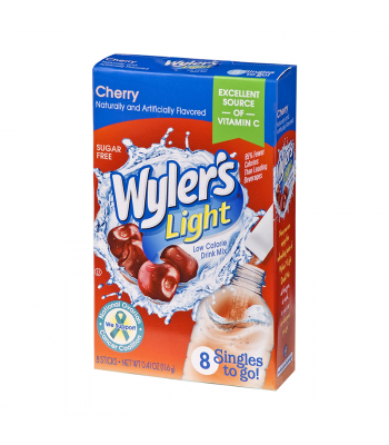 Wyler's Light Singles To Go Cherry 8-Pack - 0.41oz (11.6g) Soda and Drinks