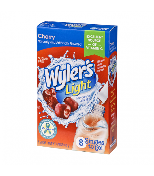 Wyler's Light Singles To Go Cherry 8-Pack - 0.41oz (11.6g) Soda and Drinks