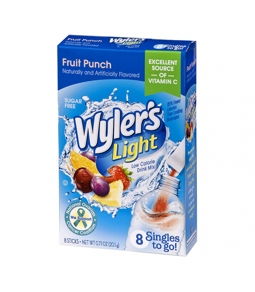 Wyler's Light Singles To Go Fruit Punch 8-Pack - 0.71oz (20.1g) Soda and Drinks