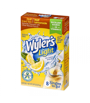 Wyler's Light Singles To Go Half Iced Tea Half Lemonade 8-Pack - 0.97oz (27.4g) Soda and Drinks