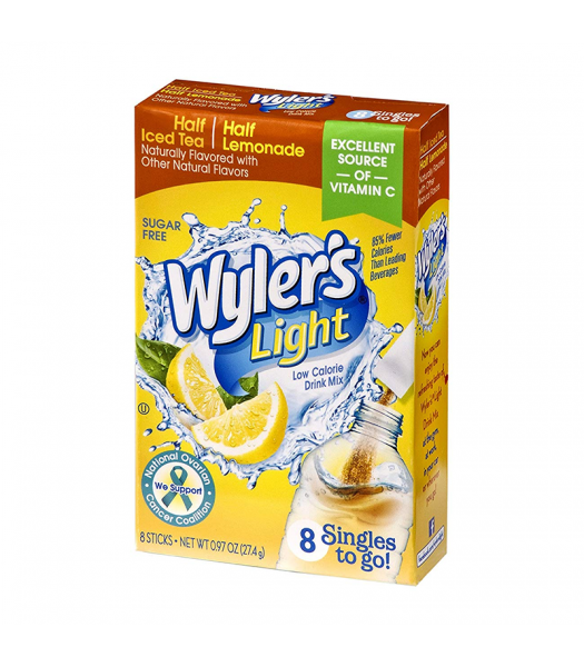 Wyler's Light Singles To Go Half Iced Tea Half Lemonade 8-Pack - 0.97oz (27.4g) Soda and Drinks