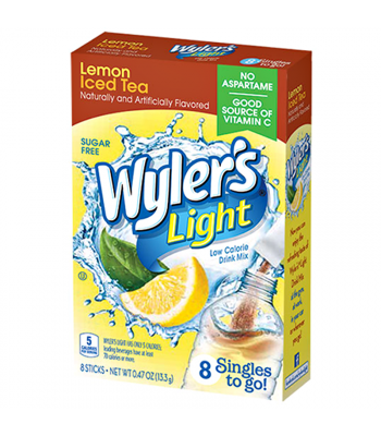 Wyler's Light Singles To Go - Lemon Iced Tea 8-Pack 0.47oz (13.3g) Drink Mixes