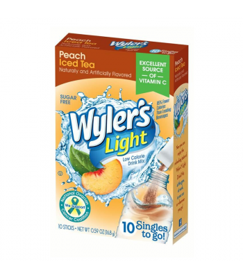 Wyler's Light Singles To Go Peach Iced Tea 8-Pack - 0.47oz (13.3g) Soda and Drinks