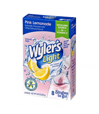 Wyler's Light Singles To Go Pink Lemonade 8-Pack - 1.09oz (30.9g) Soda and Drinks