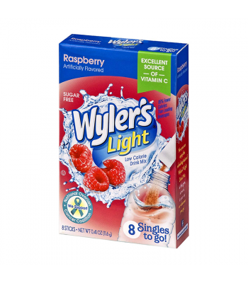 Wyler's Light Singles To Go Raspberry 8-Pack - 0.41oz (11.6g) Soda and Drinks