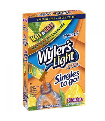 Wyler's Light Singles To Go - Half Iced Tea Half Lemonade 8PK Drink Mixes