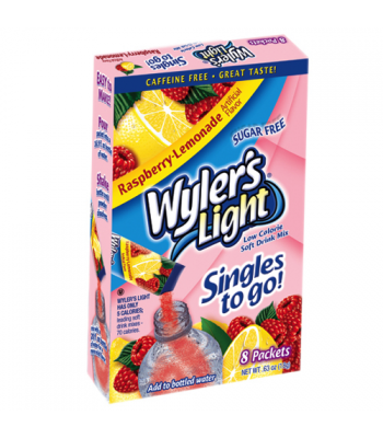 Wylers Light Singles To Go - Raspberry Lemonade 8PK