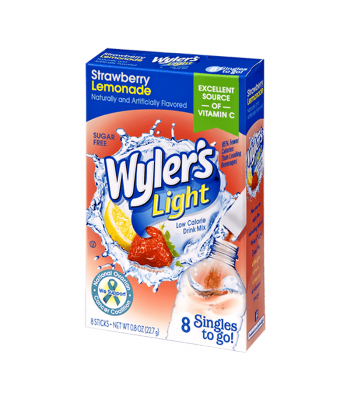 Wyler's Light Singles To Go Strawberry Lemonade 8-Pack - 0.8oz (22.7g) Soda and Drinks